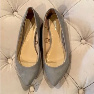 Express Suede Pointy Flats